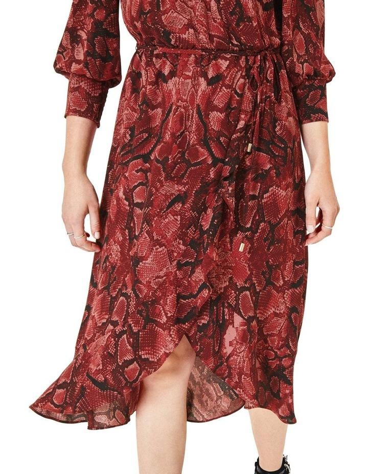Snake Midi Wrap Dress image 4