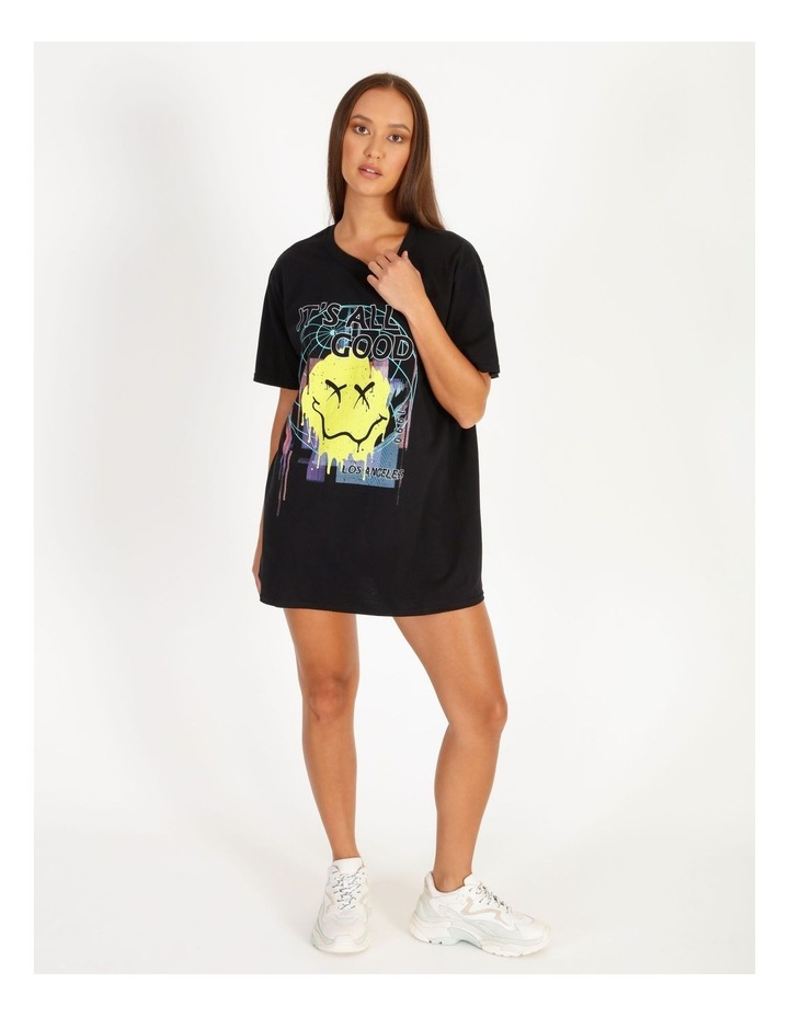 Its All Good Graphic Short Sleeve Oversized Tee image 1