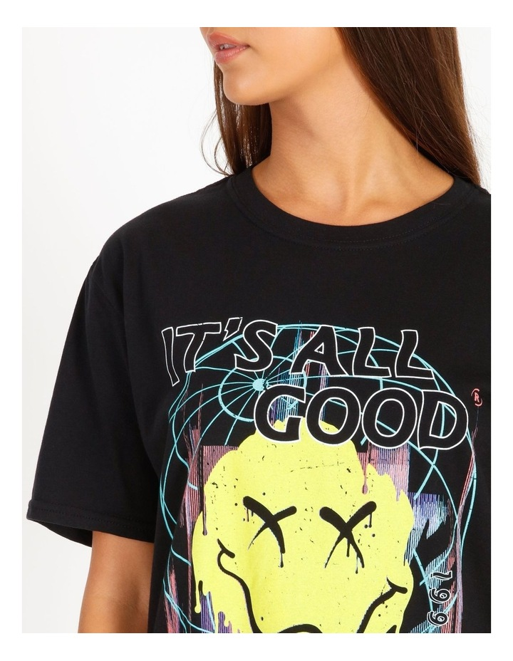 Its All Good Graphic Short Sleeve Oversized Tee image 4