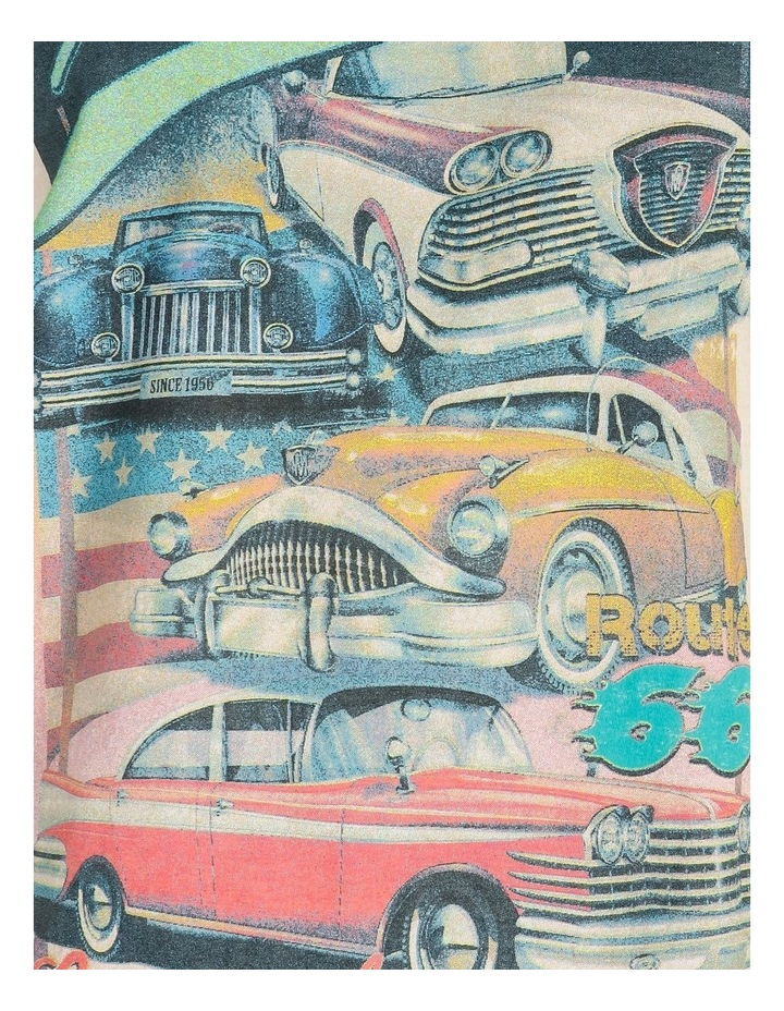 Mad Dash Car Graphic Short Sleeve Oversized Tee image 5