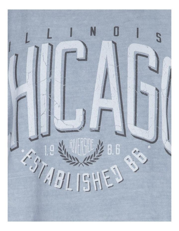 Chicago Graphic Short Sleeve Oversized Tee image 5