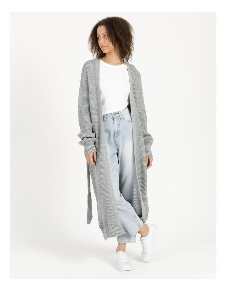 Belted Maxi Cardigan Grey image 2