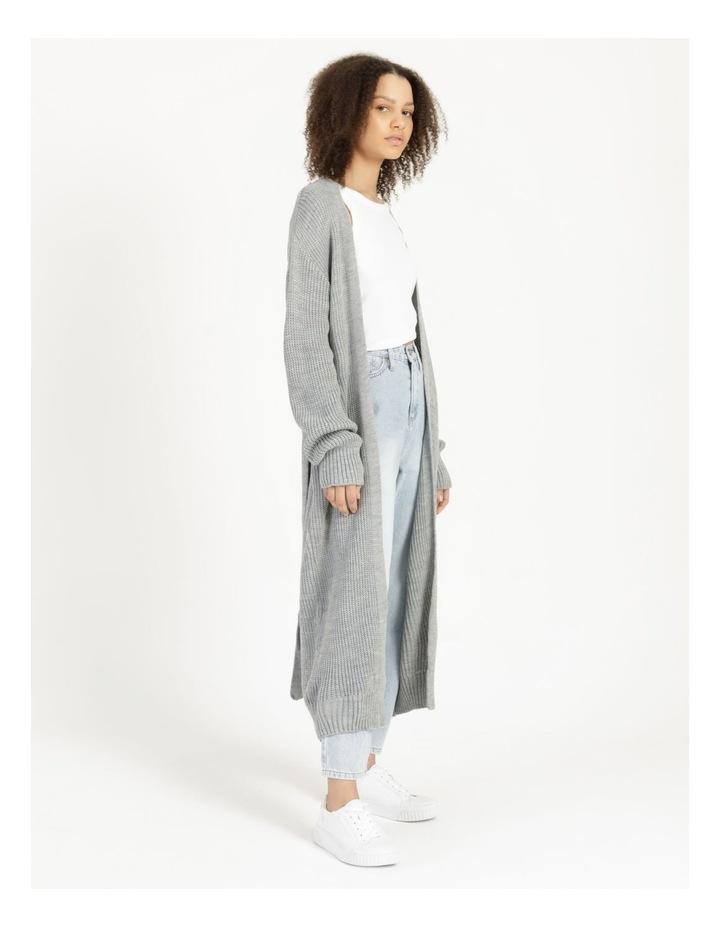 Belted Maxi Cardigan Grey image 3