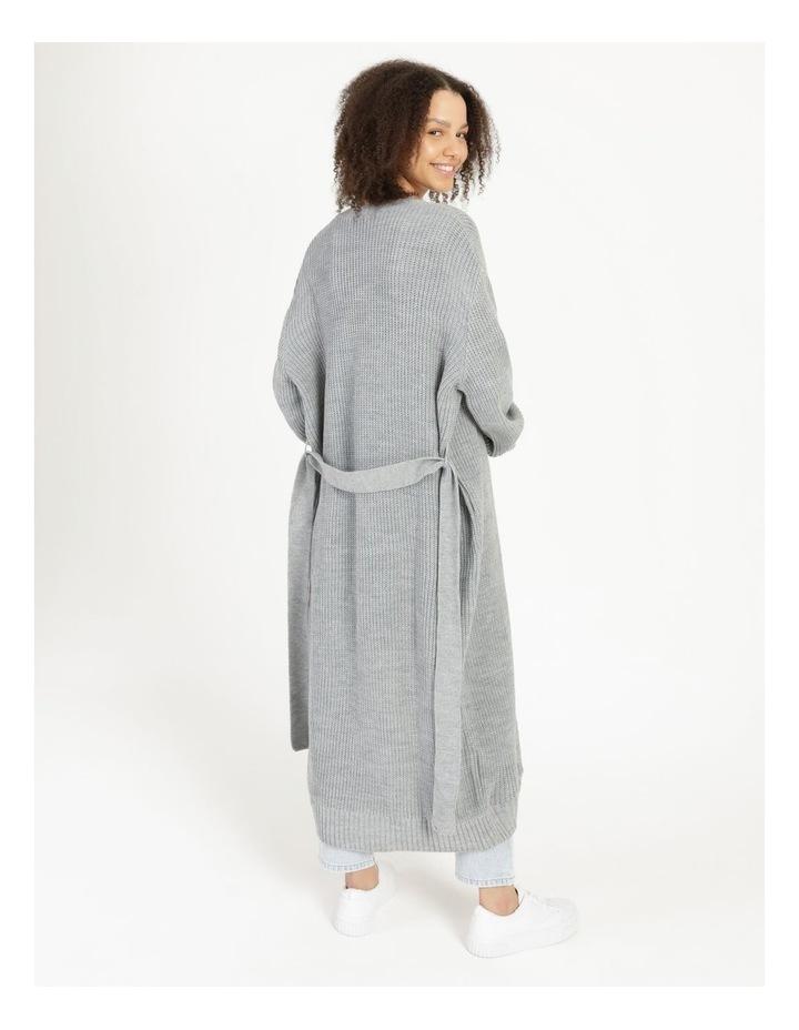 Belted Maxi Cardigan Grey image 4