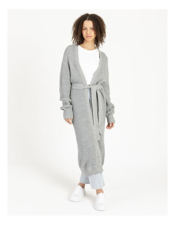 Belted Maxi Cardigan Grey image 5