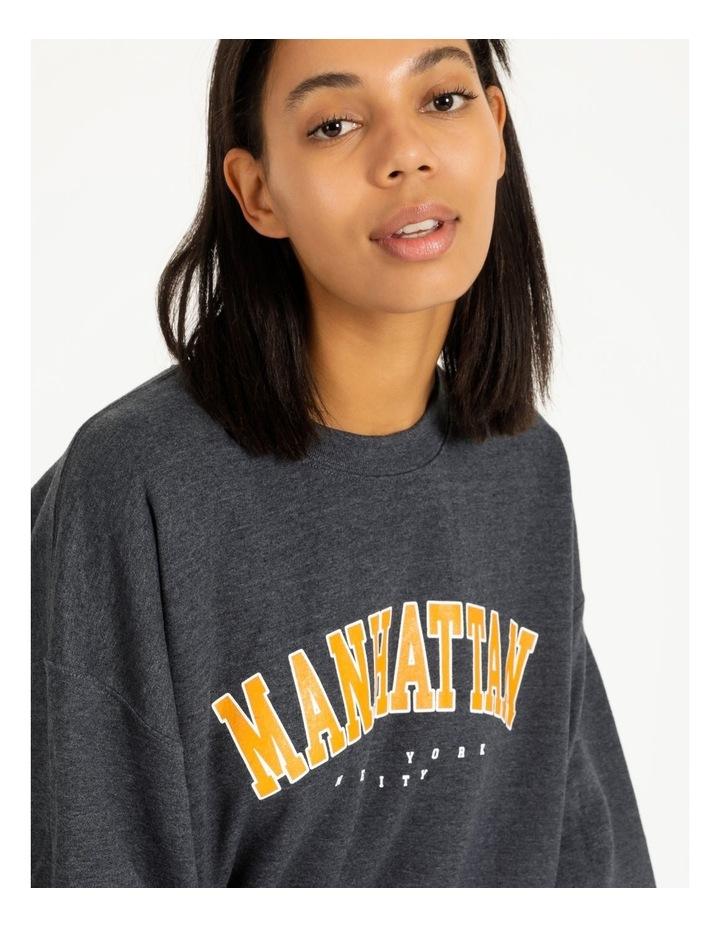 Manhattan Graphic Oversized Sweatshirt image 4