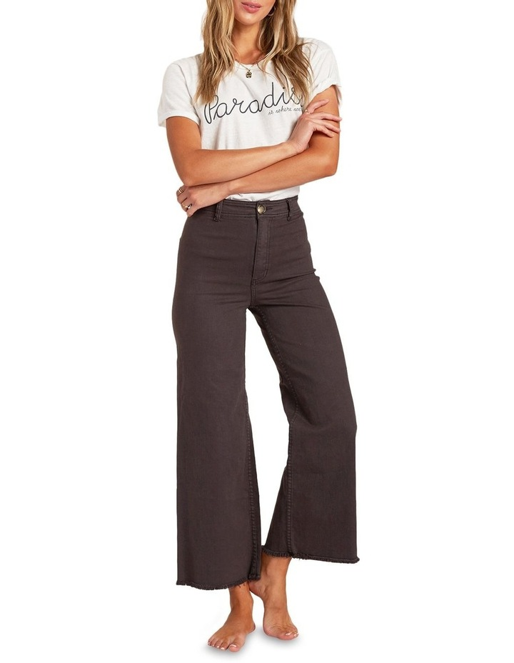 Free Fall Off Black High Waisted Wide Leg Jean image 1