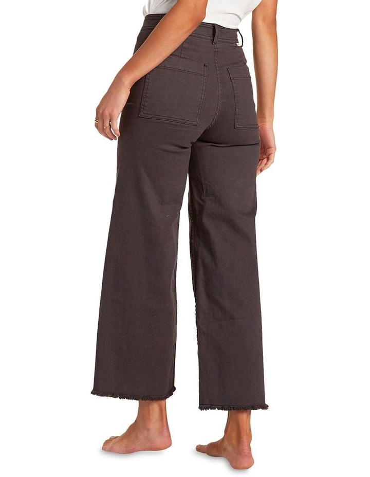 Free Fall Off Black High Waisted Wide Leg Jean image 2