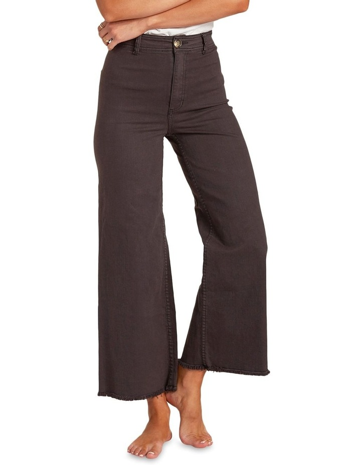 Free Fall Off Black High Waisted Wide Leg Jean image 3