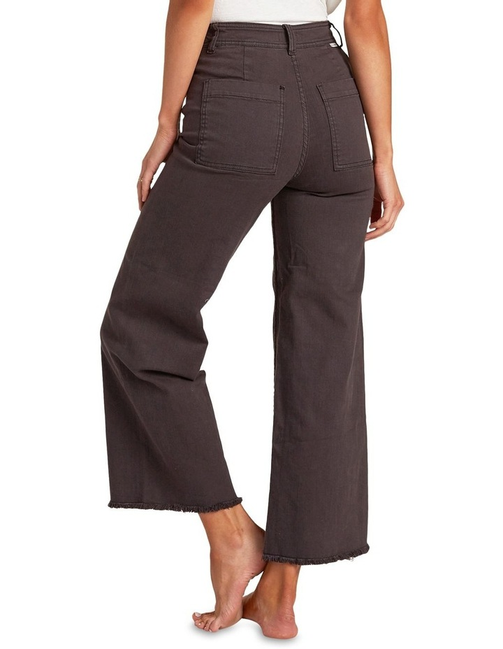 Free Fall Off Black High Waisted Wide Leg Jean image 4