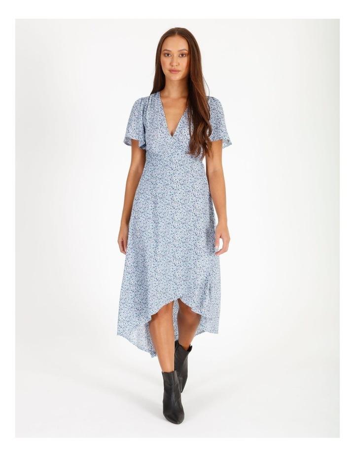 High Lowmidi Short Sleeve Floral Dress image 1