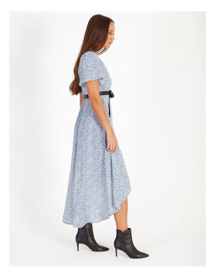 High Lowmidi Short Sleeve Floral Dress image 2