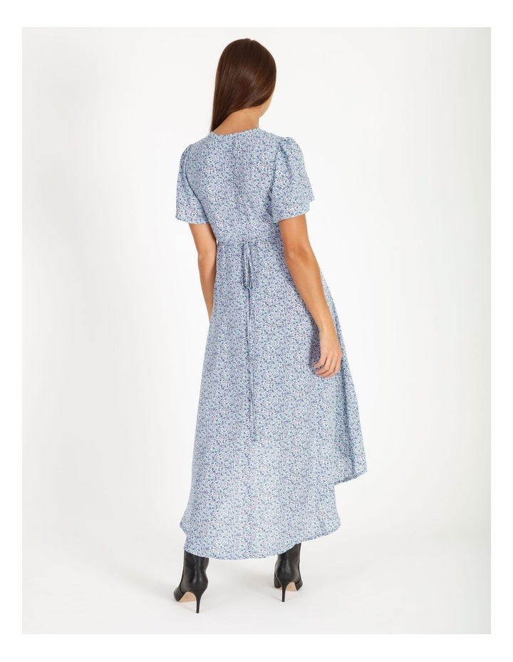 High Lowmidi Short Sleeve Floral Dress image 3