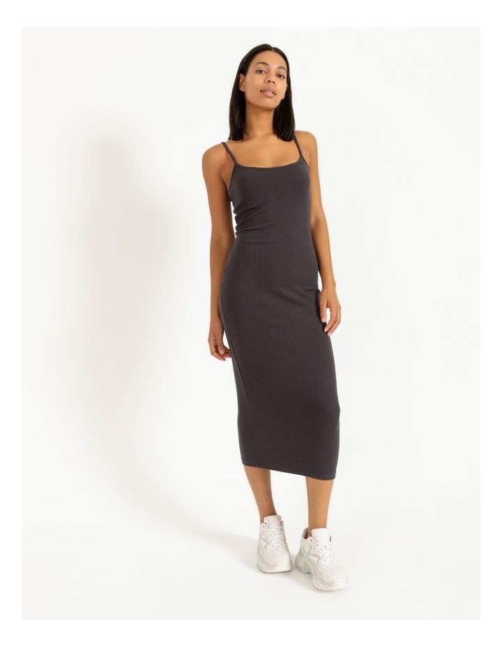 Ribbed Strappy Midi Dress image 1