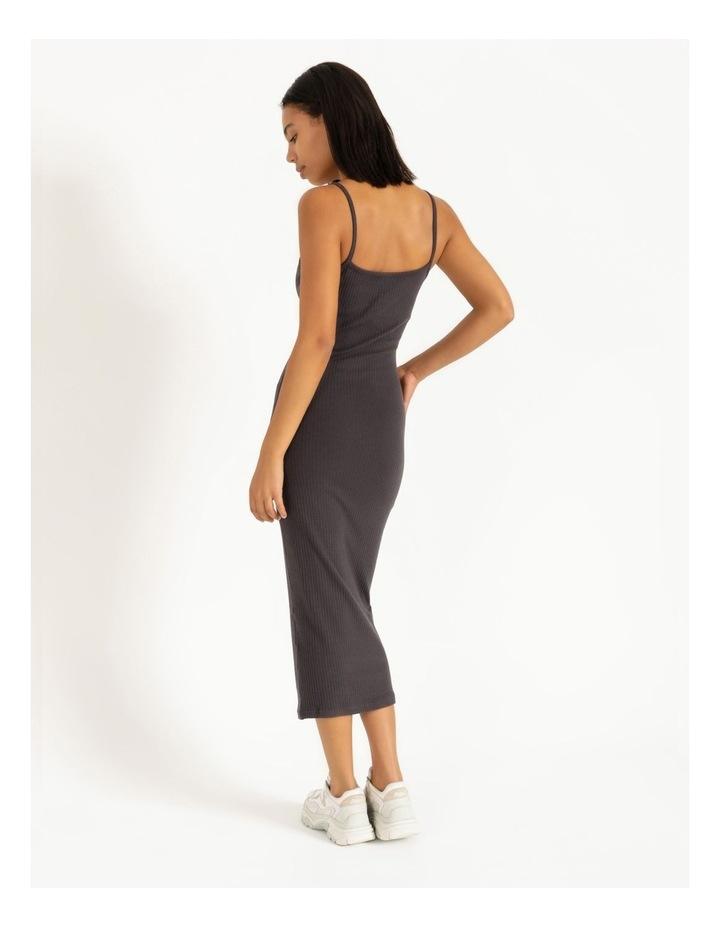 Ribbed Strappy Midi Dress image 2