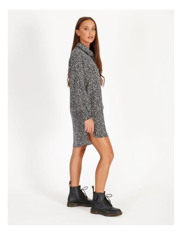 Oversized Dip Back Dalmatian Shirt Dress image 2