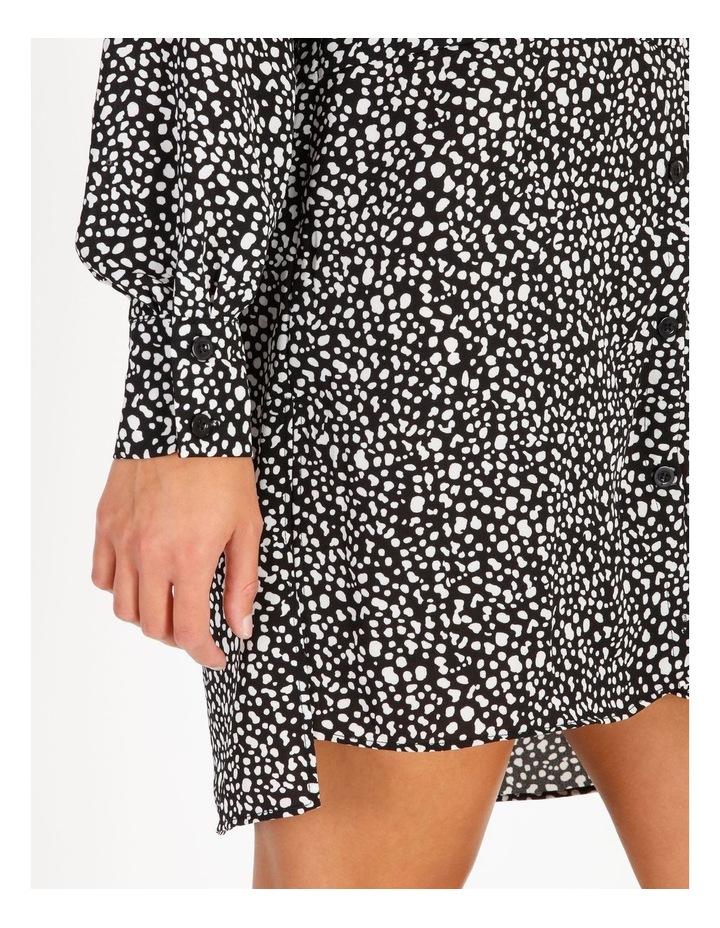 Oversized Dip Back Dalmatian Shirt Dress image 4