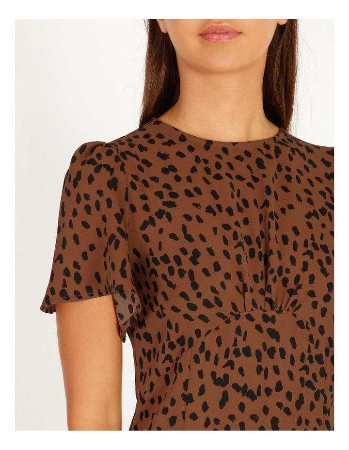 Flutter Sleeve Dalmatian Midi Dress image 4
