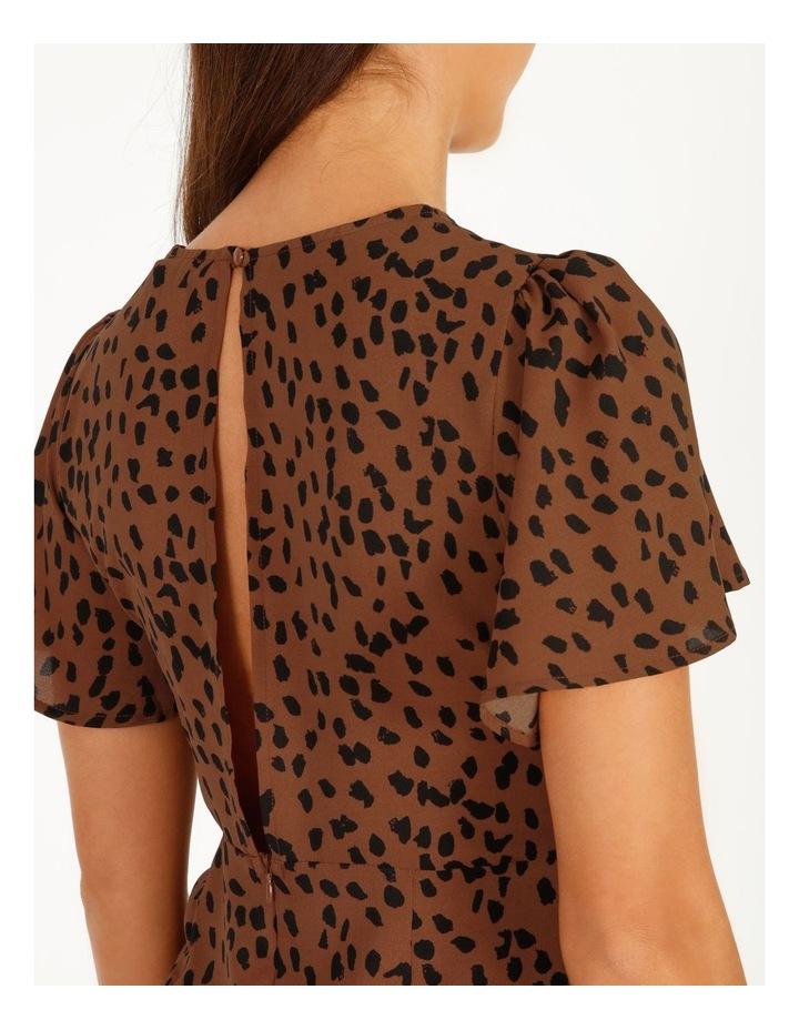 Flutter Sleeve Dalmatian Midi Dress image 5