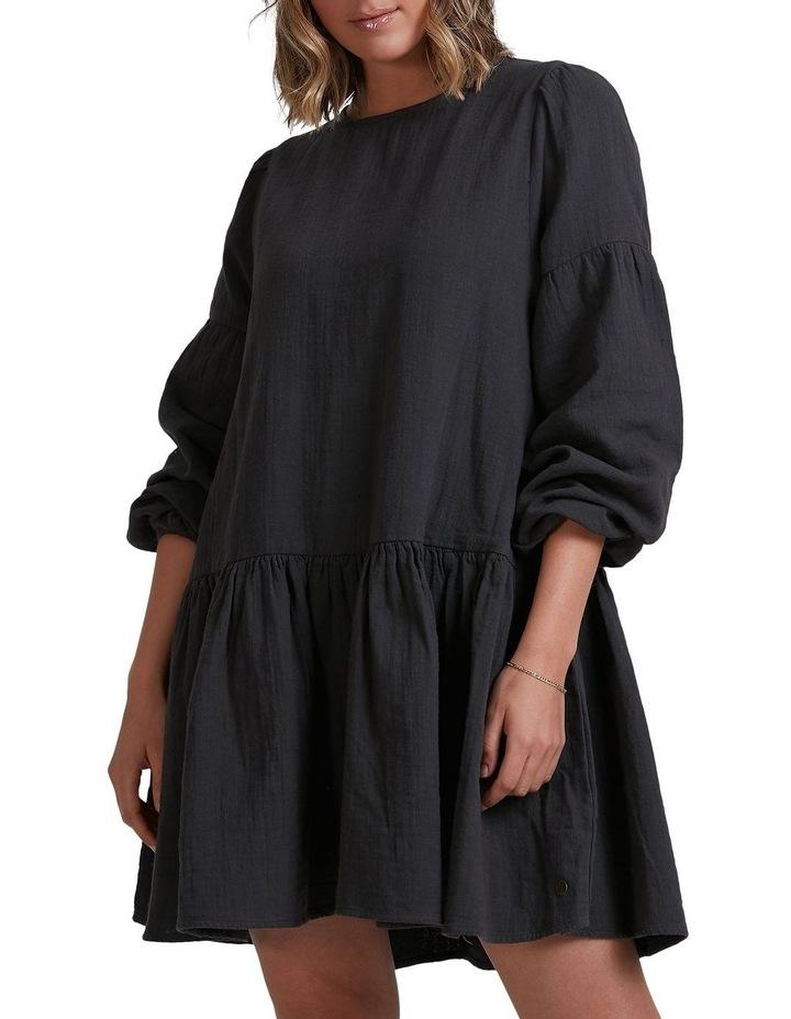 Wishes Tiered Mini Dress Black image 1