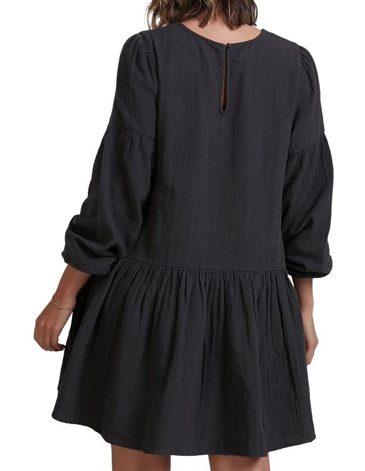 Wishes Tiered Mini Dress Black image 2