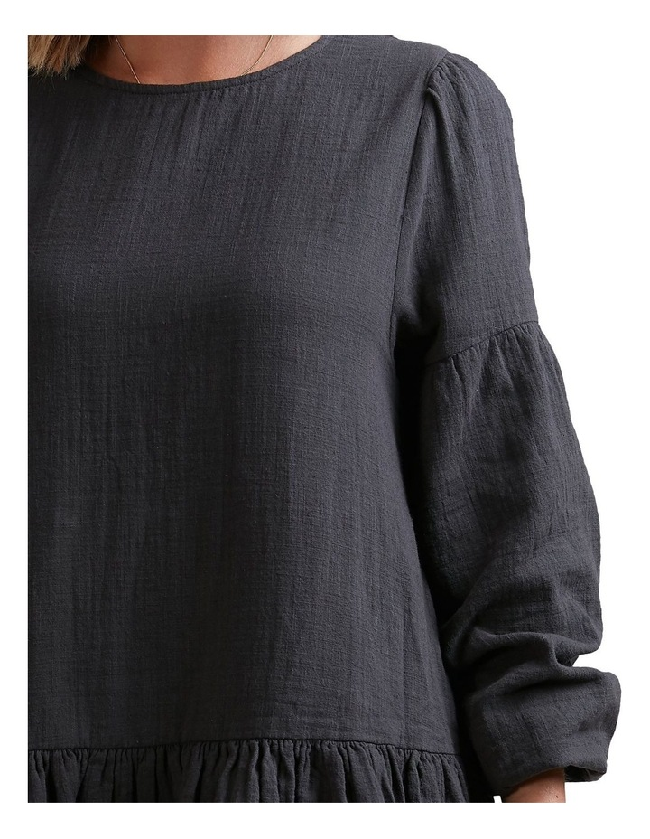 Wishes Tiered Mini Dress Black image 3