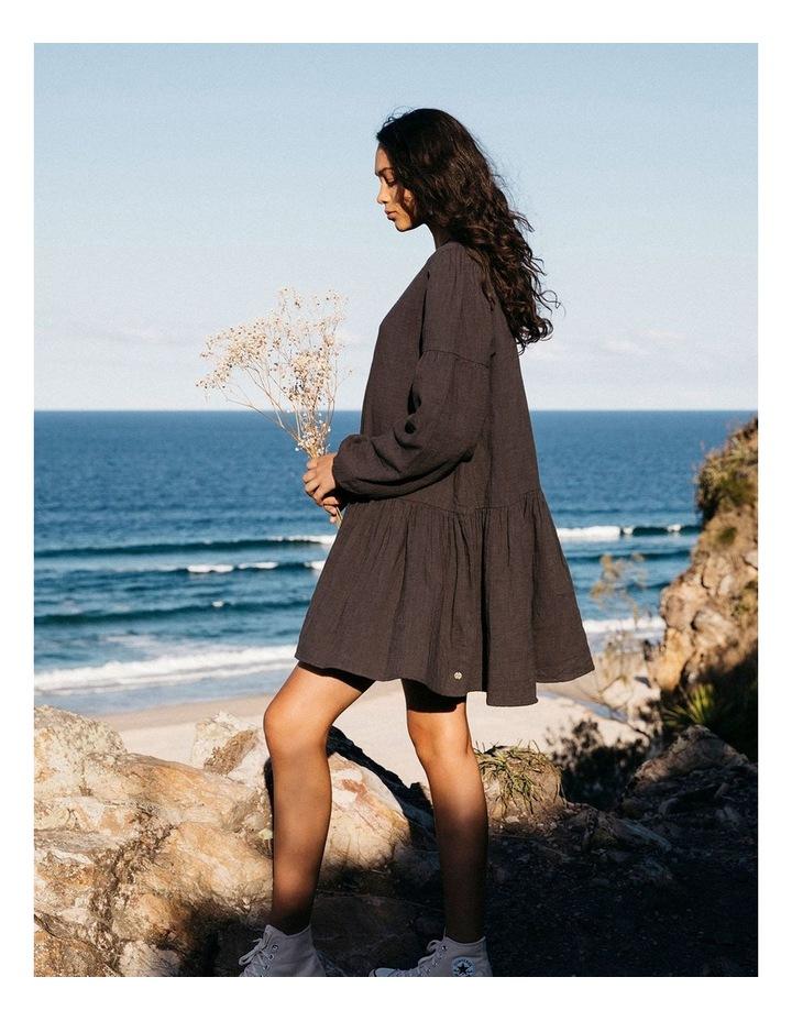 Wishes Tiered Mini Dress Black image 4