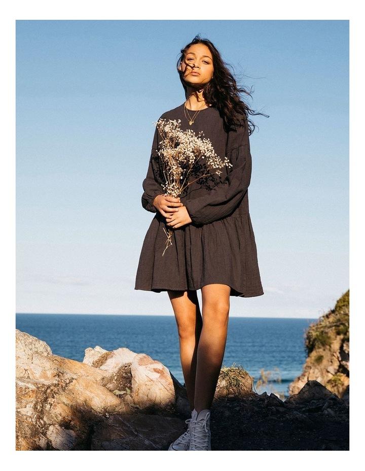 Wishes Tiered Mini Dress Black image 5