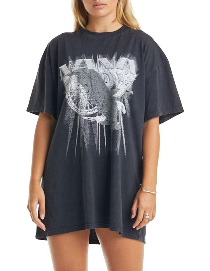 Ivy T-Shirt Dress Vintage Black image 1