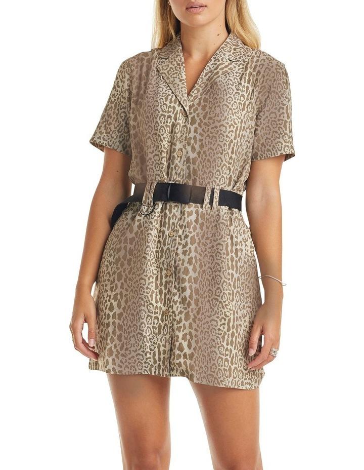 Karla Short Sleeve Dress Leopard image 1