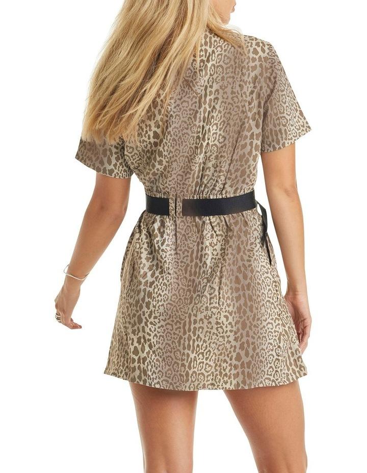 Karla Short Sleeve Dress Leopard image 2