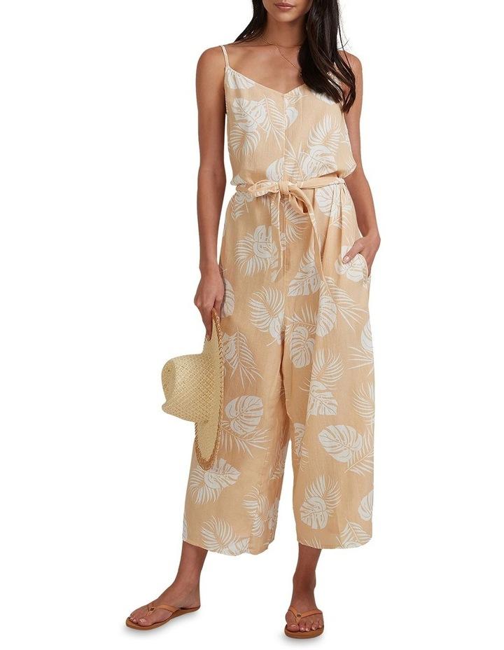 Sandy Palm Jumpsuit Beige image 1