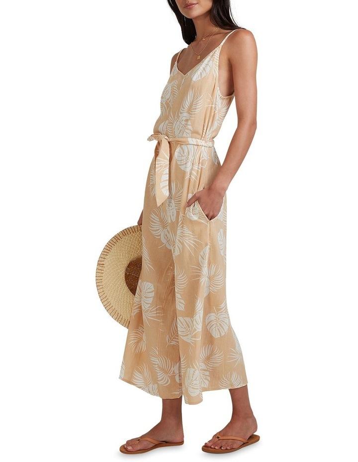 Sandy Palm Jumpsuit Beige image 3