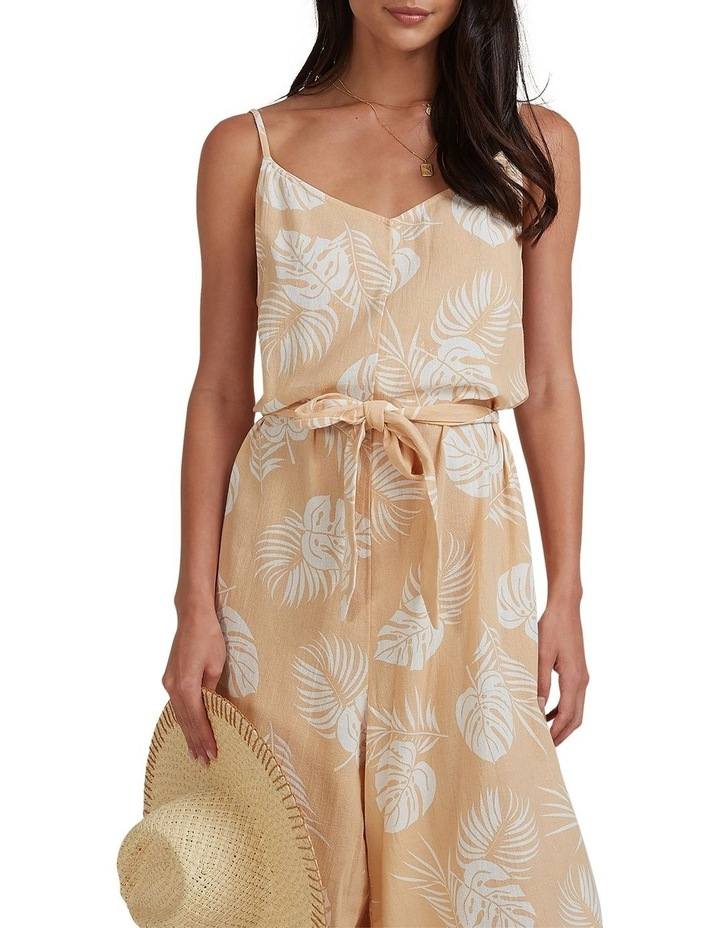 Sandy Palm Jumpsuit Beige image 4