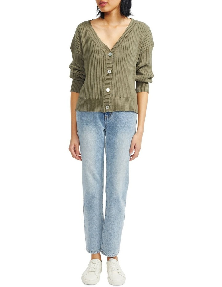Cresent Ribbed Knit Cardigan image 1