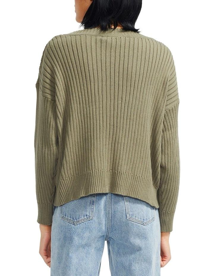 Cresent Ribbed Knit Cardigan image 3