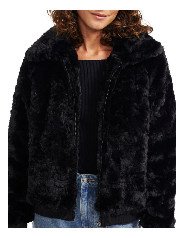 Maya Fur Bomber Jacket image 5
