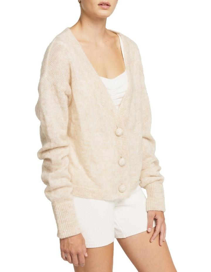 Alpaca Wool Short Knit Cardigan Ecru image 2