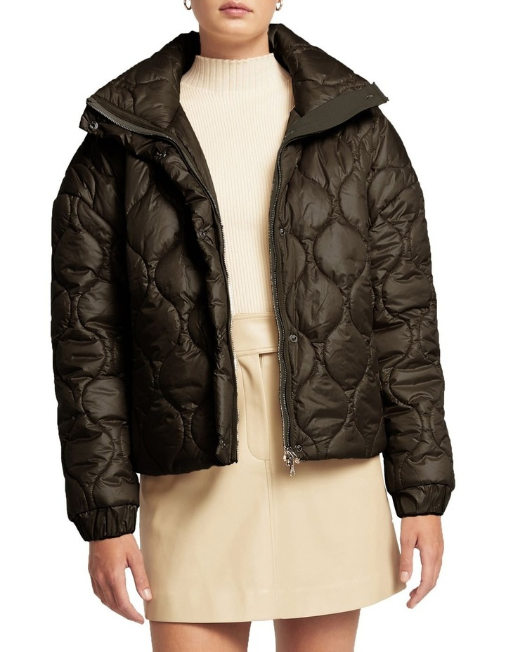 Maxwell Quilted Bomber Jacket Black image 1