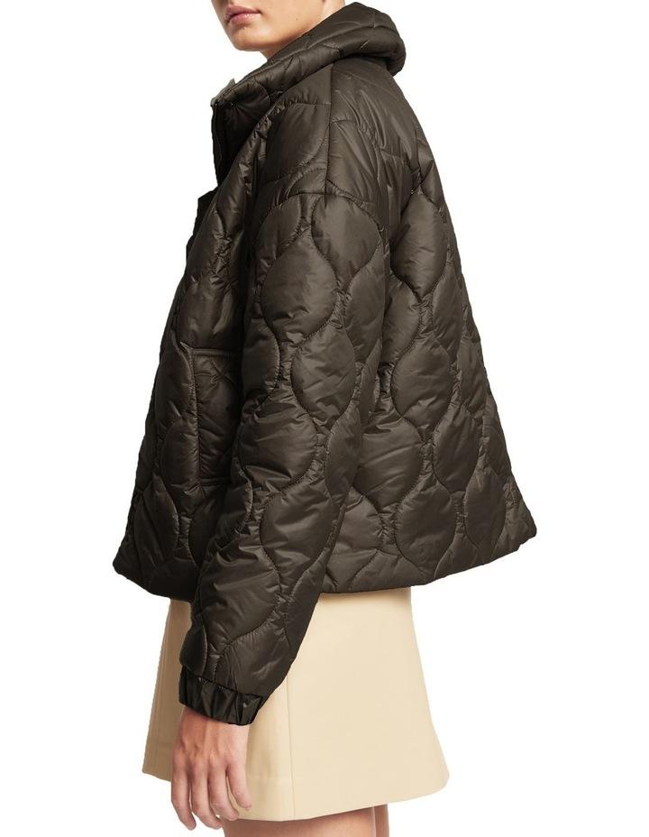Maxwell Quilted Bomber Jacket Black image 2