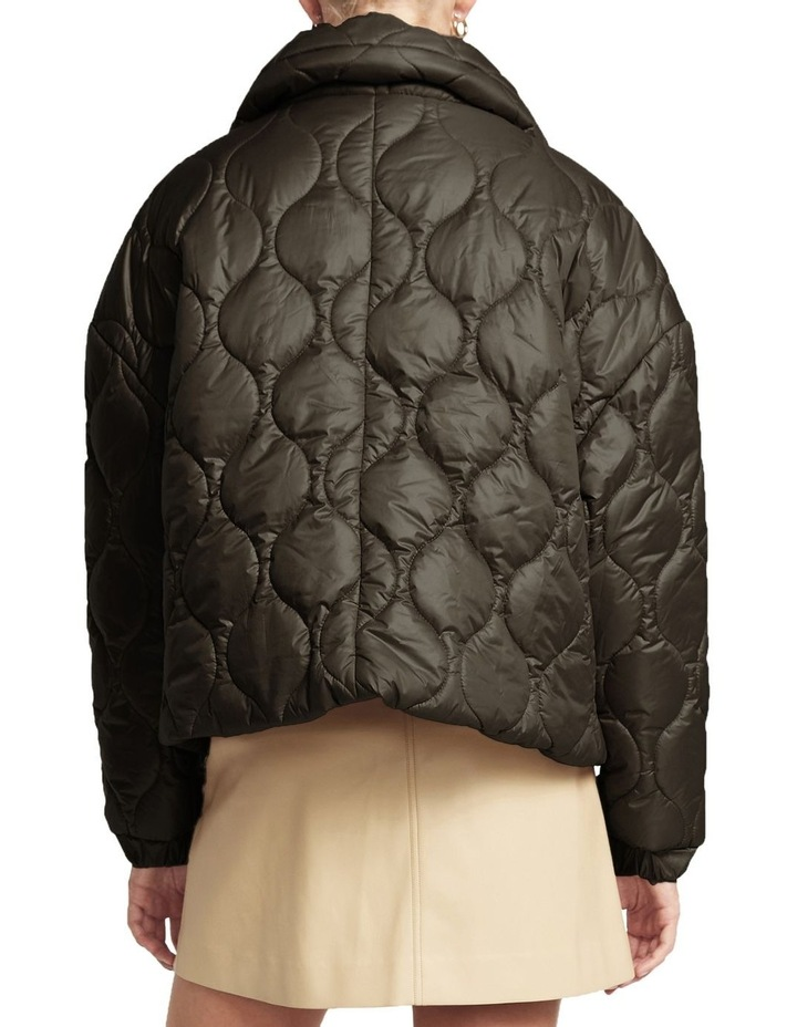 Maxwell Quilted Bomber Jacket Black image 3