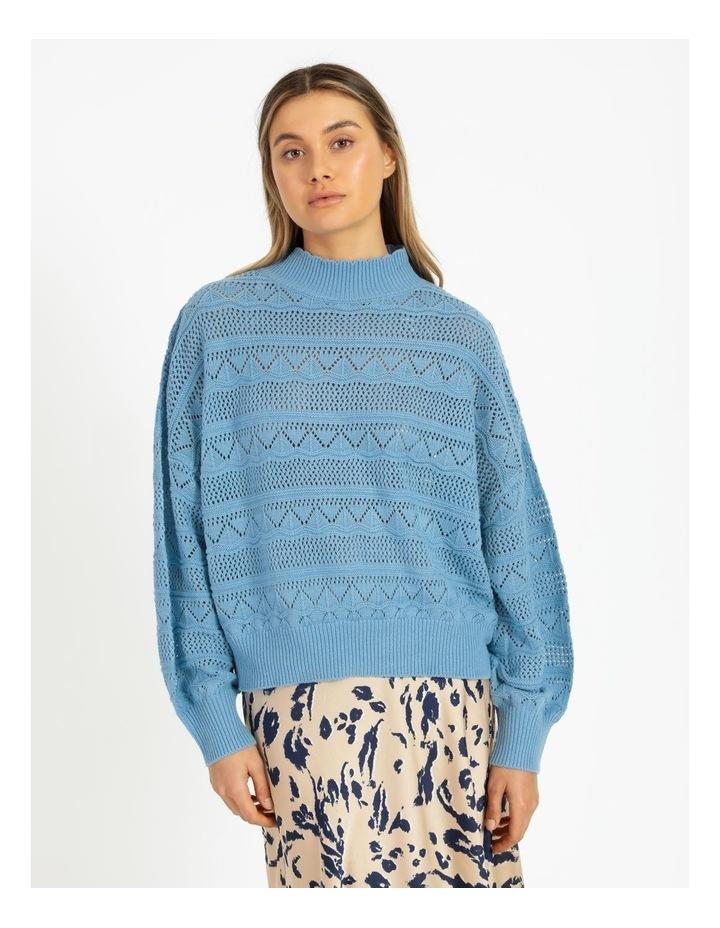 Erula High Neck Knit Pullover Dusk Blue image 1