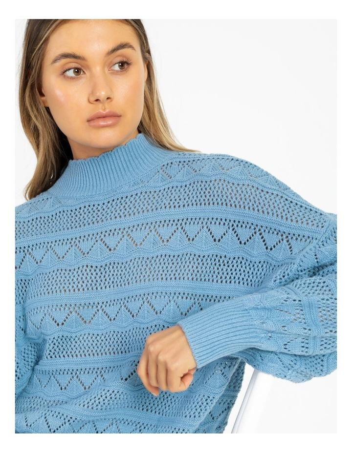 Erula High Neck Knit Pullover Dusk Blue image 2