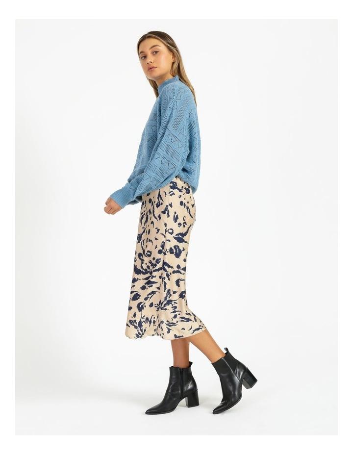 Erula High Neck Knit Pullover Dusk Blue image 3