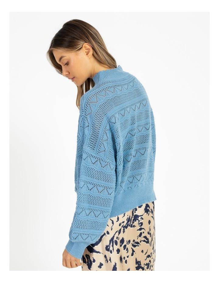 Erula High Neck Knit Pullover Dusk Blue image 4
