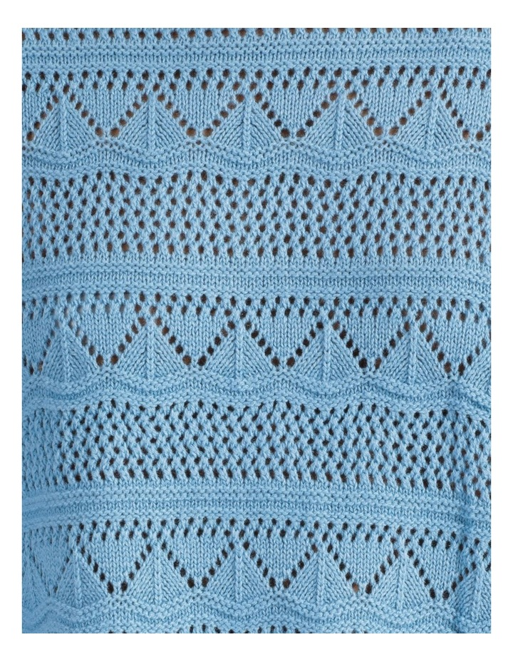 Erula High Neck Knit Pullover Dusk Blue image 5