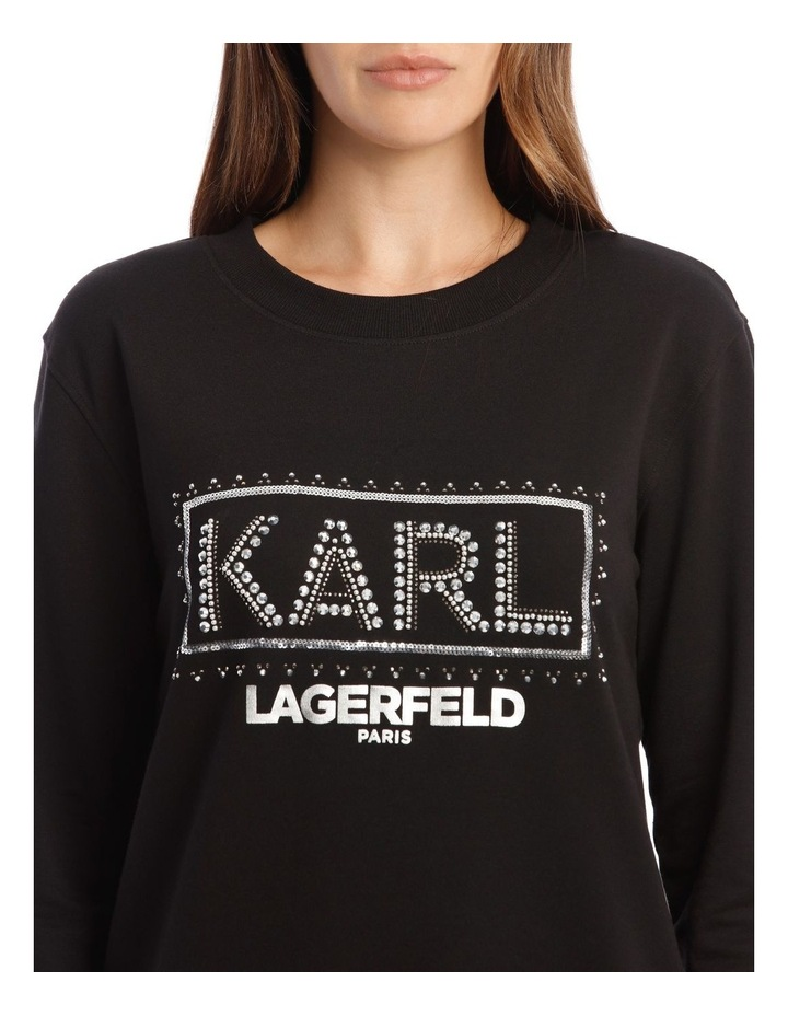 Sequin Karl Sweatshirt image 4