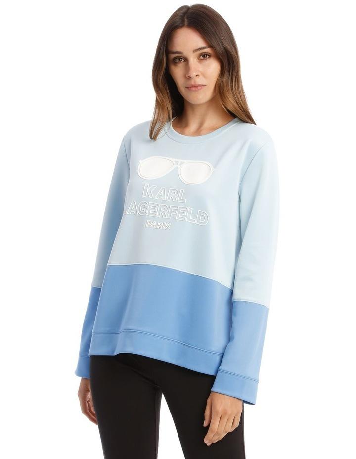 Contrast Sweatshirt In Blue image 1