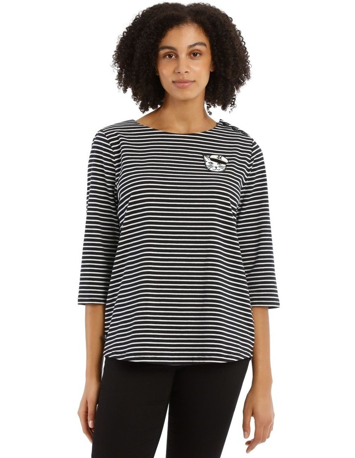Stripe Tee with Choupette image 1