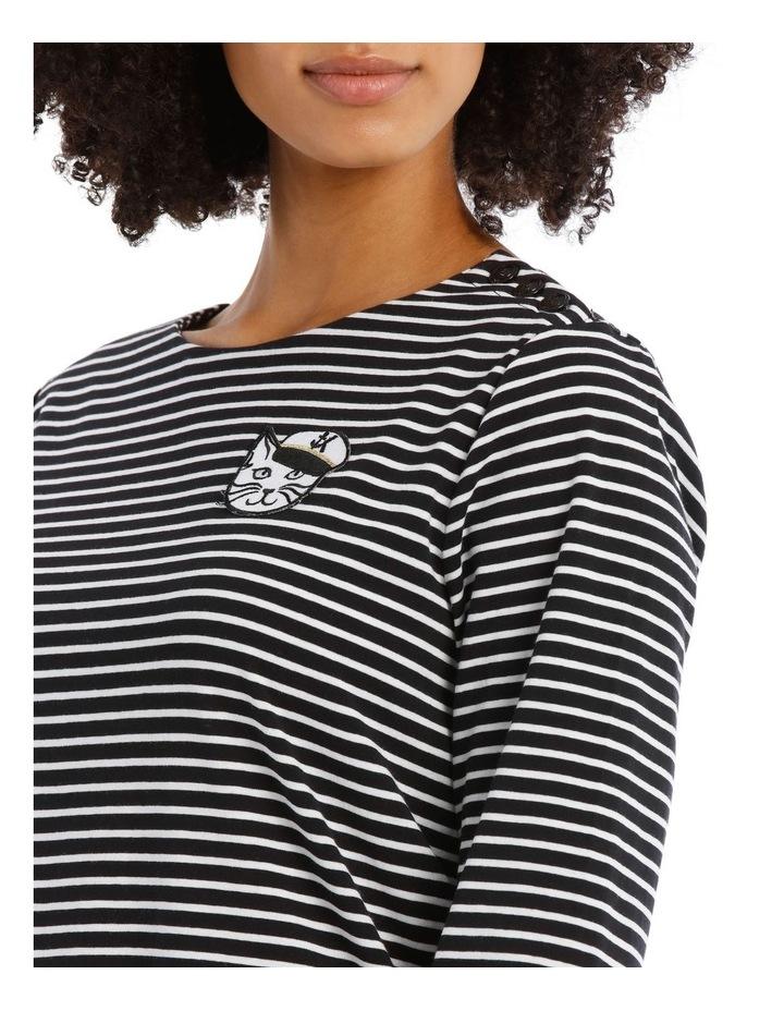 Stripe Tee with Choupette image 4